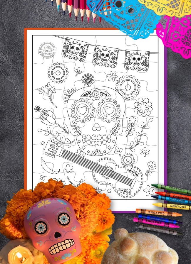 Free Printable Puzzle for Kids to Celebrate Day of the Dead