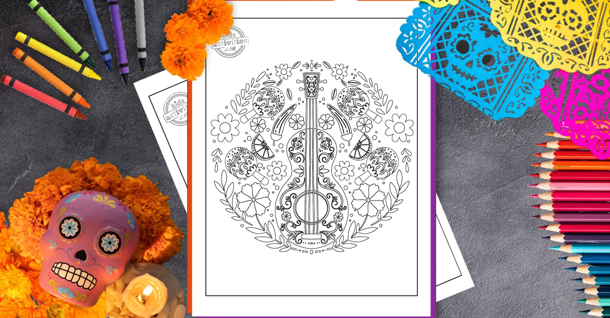 - Free Printables: Beautiful Day Of The Dead Coloring Pages For Kids