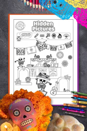 Day of the Dead Hidden Pictures Printable