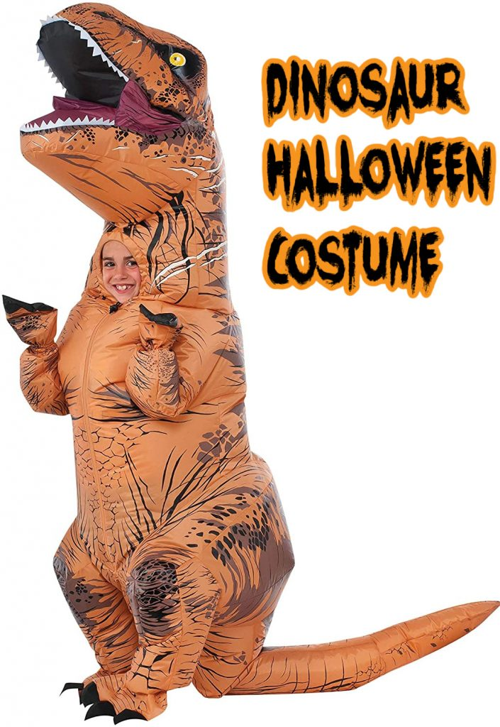 This inflatable dinosaur costume if one of the top kids costumes for 2020!