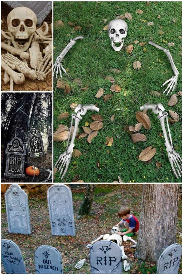 Halloween cemetery decorations that are easy to do with kids - Kids Activities Blog feature