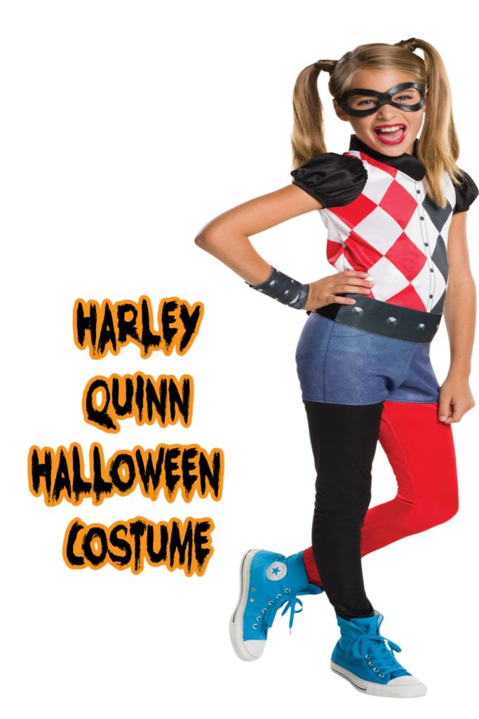 This Harley Quinn costume is one of the top kids Halloween costume for 2020!