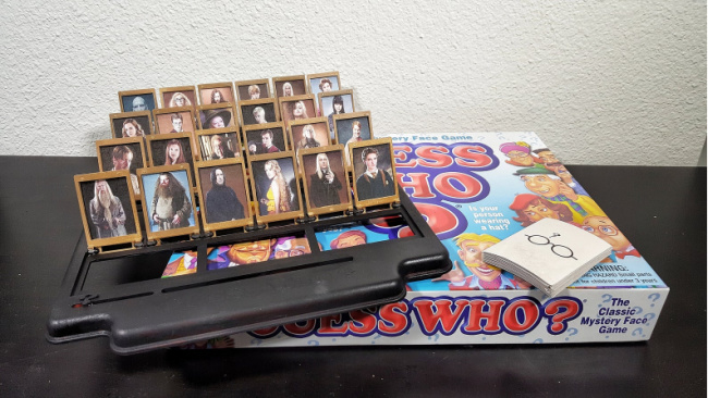 Harry Potter Guess Who card replacements in a Guess Who board game