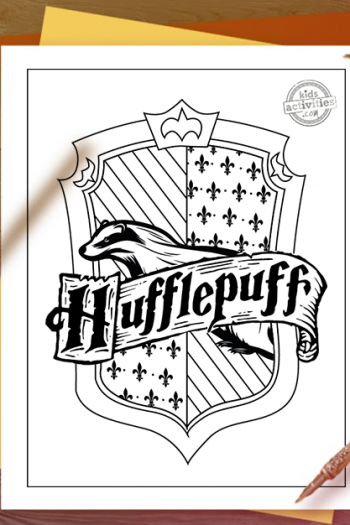 Harry Potter Hufflepuff House crest Coloring Pages