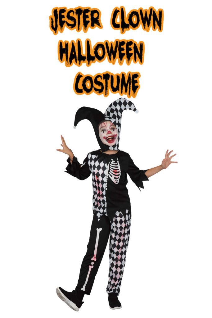 This jester clown costume is one of the top kids Halloween costumes for 2020!