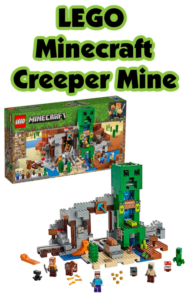 LEGO Minecraft: The Creeper Mine- A Christmas gift kids are sure to love, it includes the popular creeper, Steve, and a minecart.