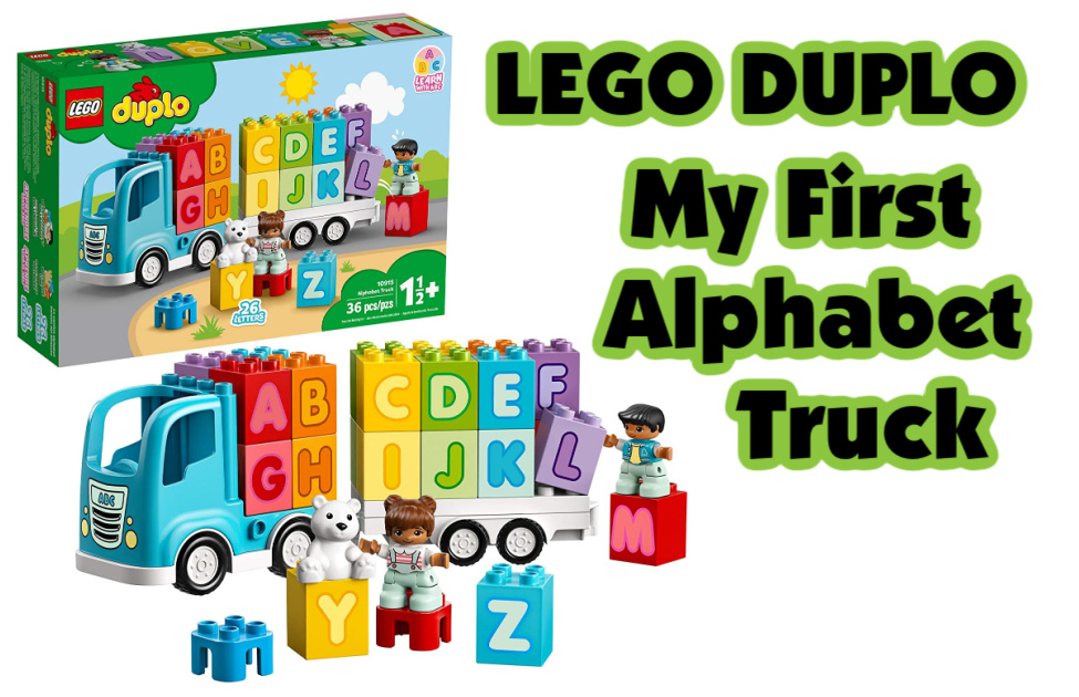 LEGO DUPLO My First Alphabet Truck-A popular kids toy that's perfect for the holiday season. It includes educational rainbow letter bricks and a toy truck.
