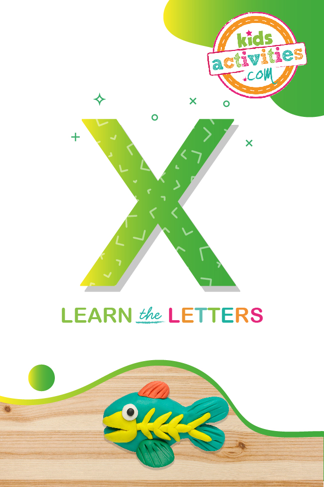 Learn the letter X with Kids Activities Blog