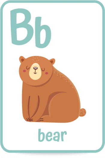Words that start with the letter B like bear