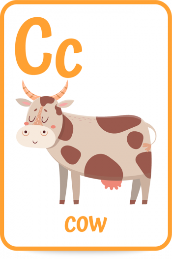 Words that start with the letter c like cow