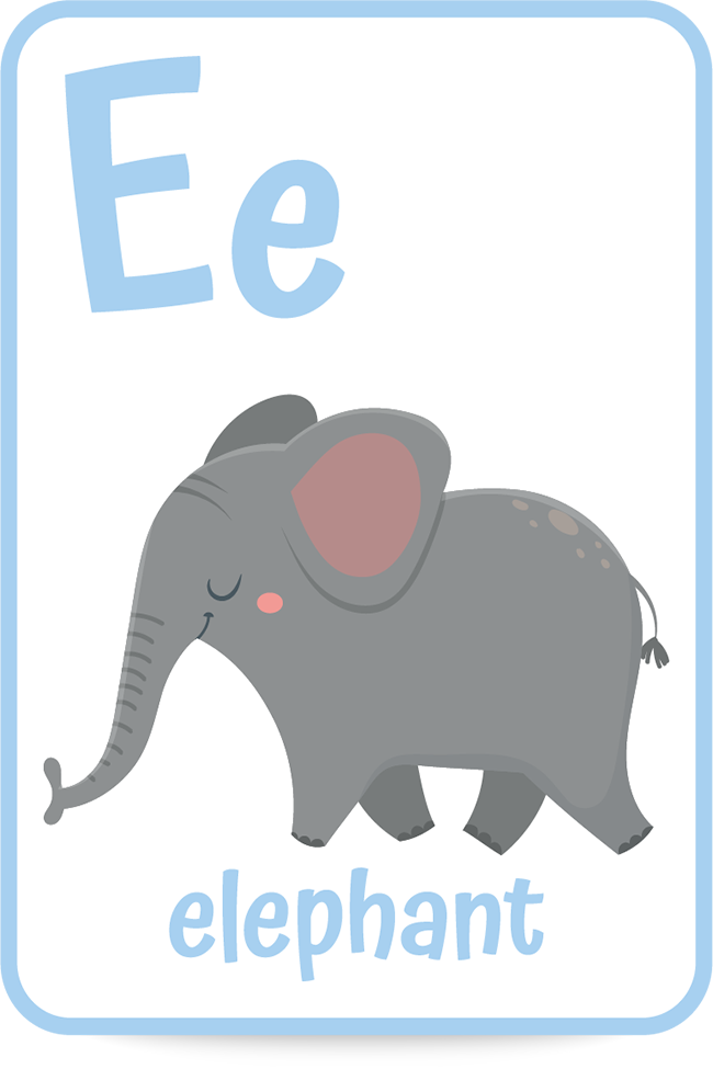 Words that Start with the Letter E like elephant