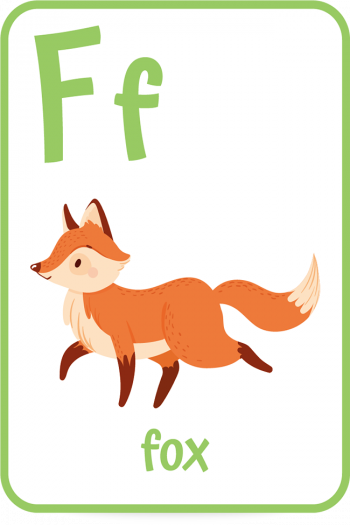 Words that start with the letter F like Fox