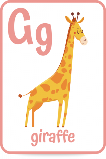 Words that start with the letter G like giraffe