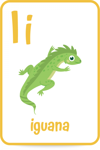 Words that start with the letter I like iguana
