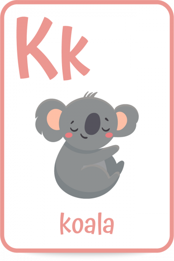 Words that start with the letter K like koala