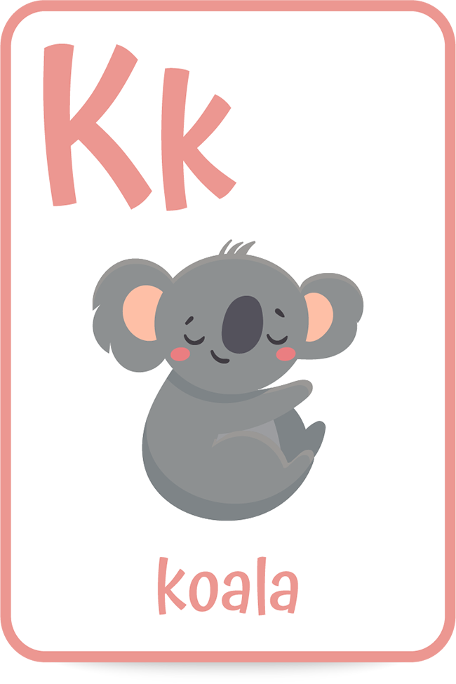 Words that start with the letter K like koala are in each book on the list