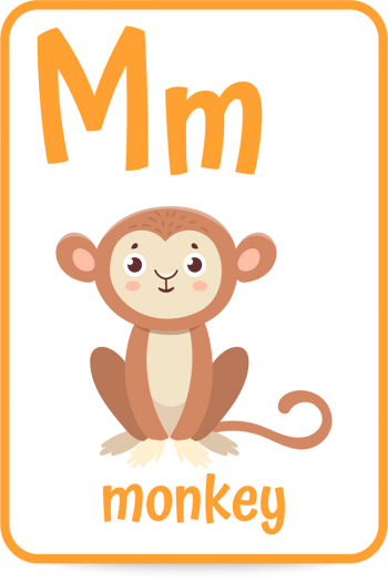 Words that start with the letter M like monkey