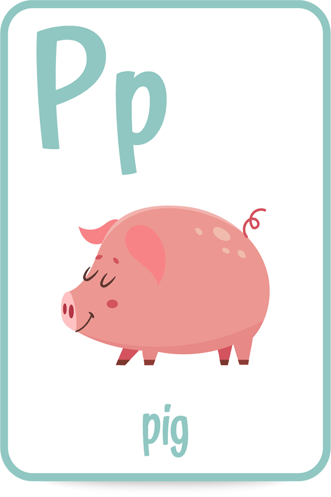 Words that start with the letter P like pig