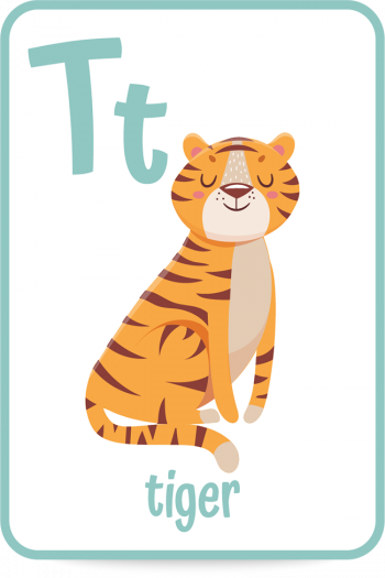 Words that start with the letter T like tiger