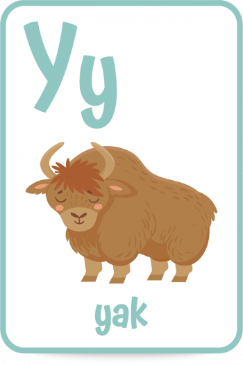 Words that start with the letter Y like yak