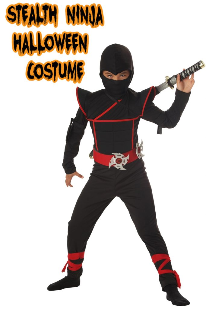 This stealth ninja costume is one of the top kids Halloween costumes for 2020!