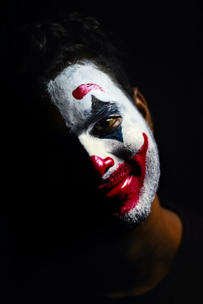 Sad clown video from Americas Got Talent - Kids Activities Blog - clown with tears and smile