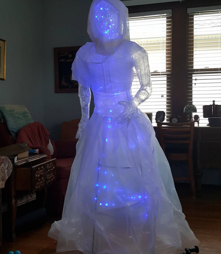 You Can Make A Packing Tape Ghost That Is Creepy Cool