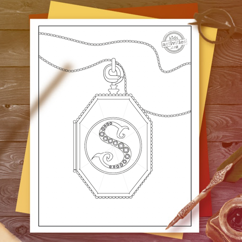 slytherin crest coloring page