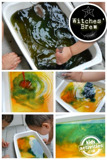 Witches brew color mixing activity for kids - Kids Activities Blog