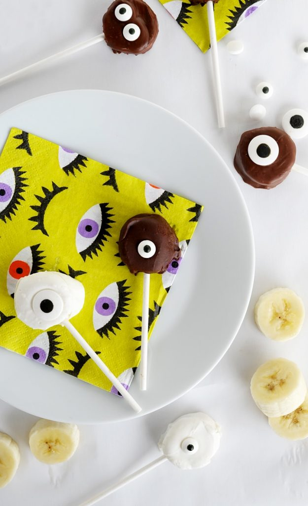 Some creepy banana treats for Halloween.