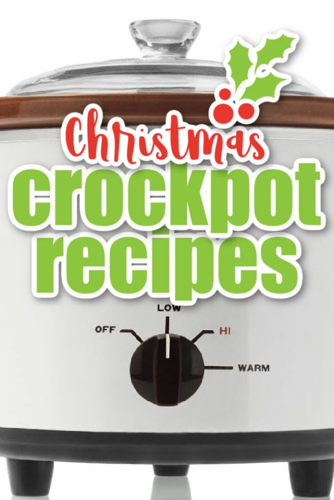 30 +Christmas crockpot recipes from Kids Activities Blog - slow cooker standing on a kitchen counter