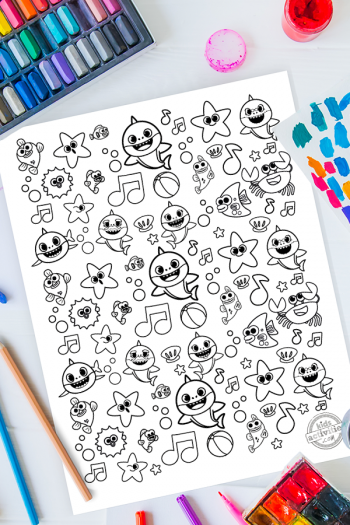 Baby Shark Doodles Coloring Page