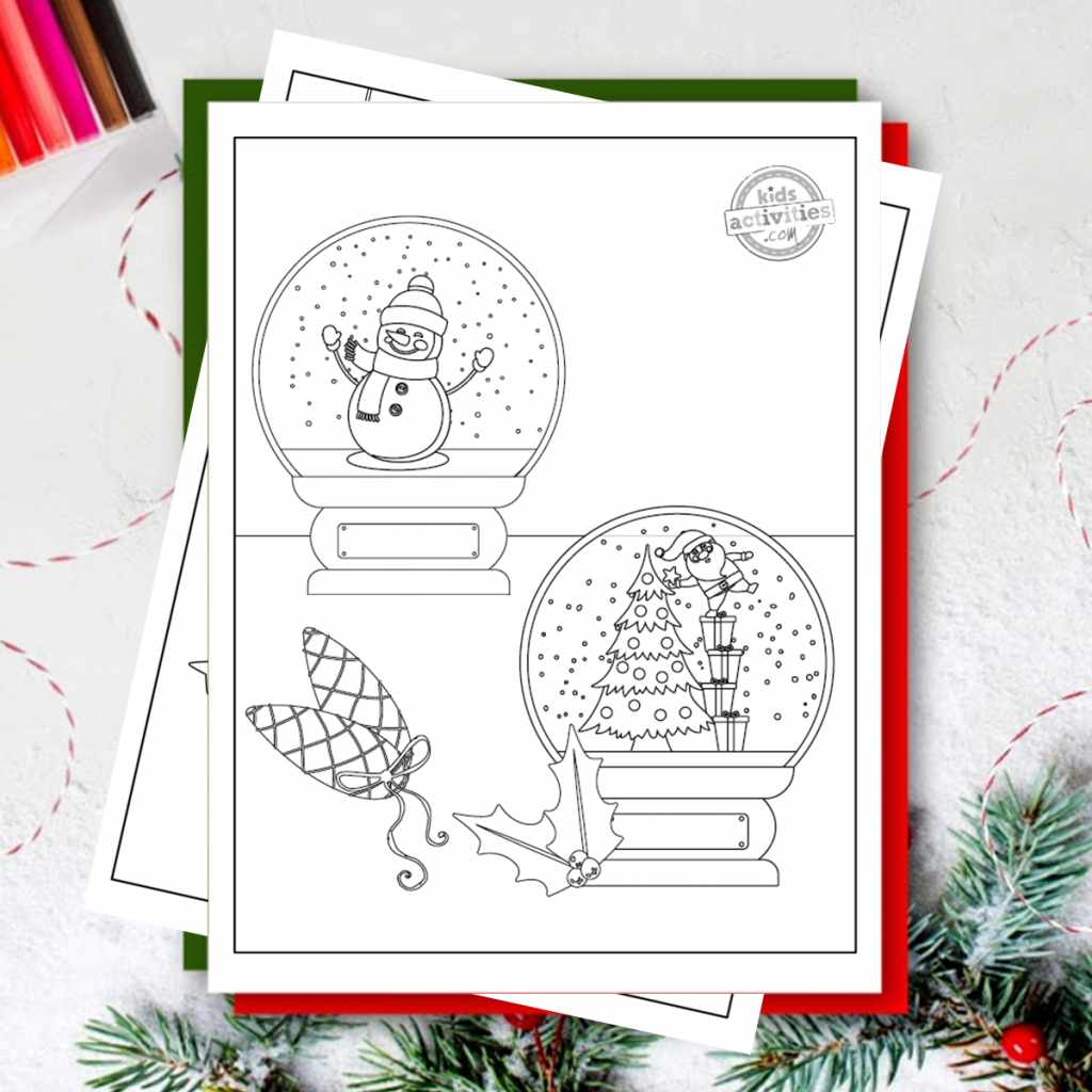 Free Christmas Printables Christmas Ornaments Coloring Pages