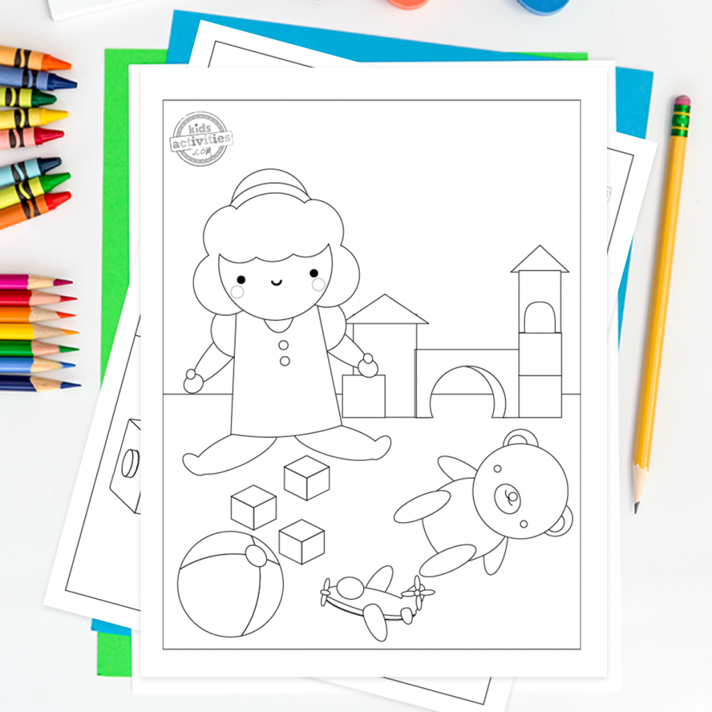 free coloring pages doll