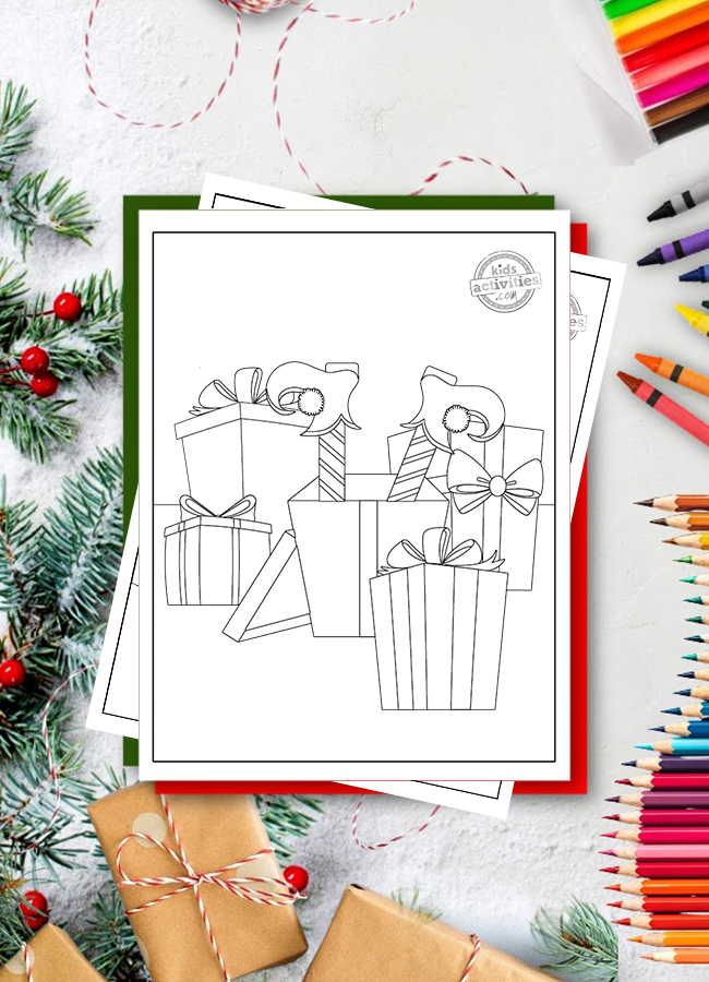 free printable easy christmas coloring pages