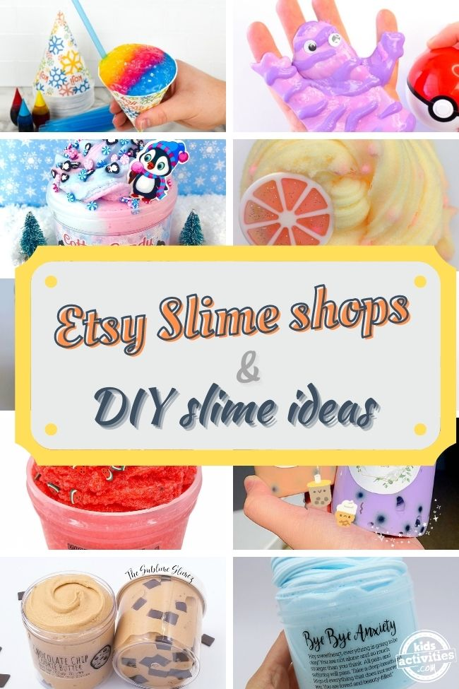 etsy shops that sells slime and DIY slime ideas