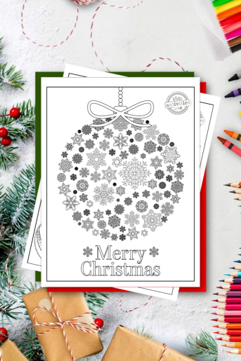 Free Christmas Adult Coloring Pages for adults