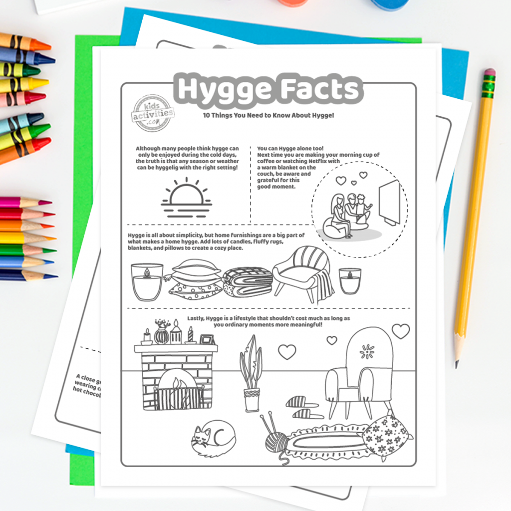 Hygge coloring pages
