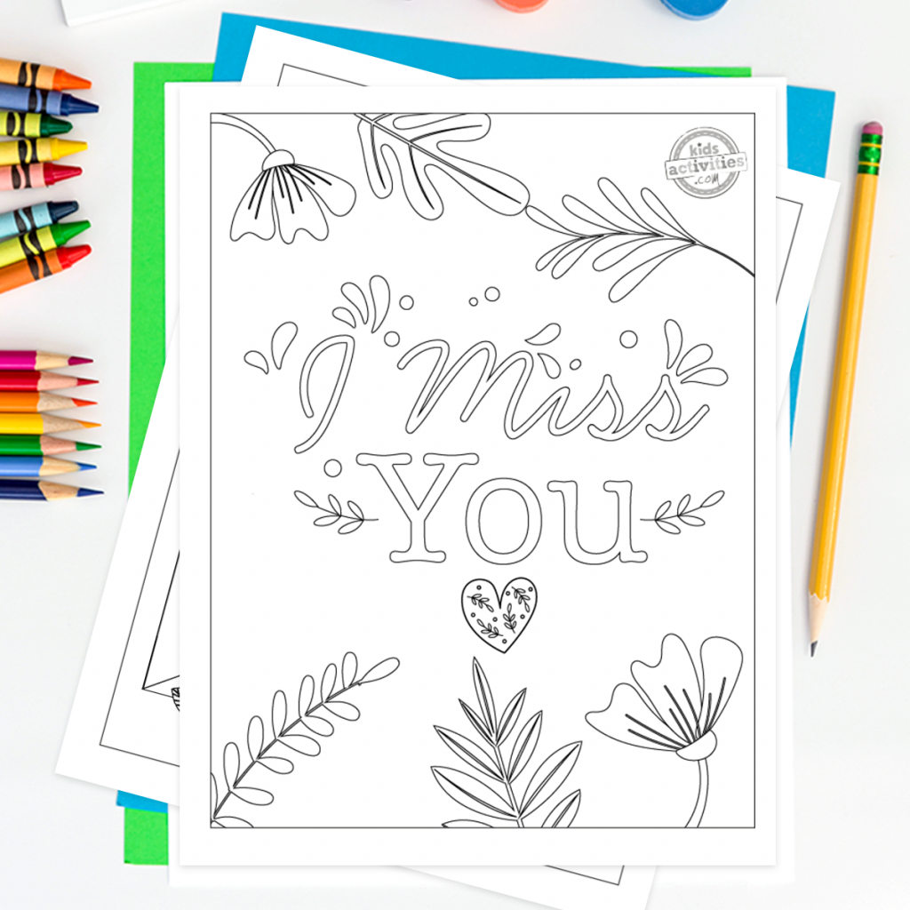 miss you coloring pages