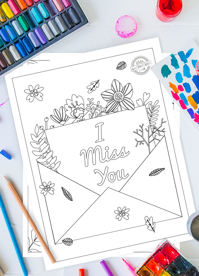Sweetest Ever I Miss You Coloring Pages