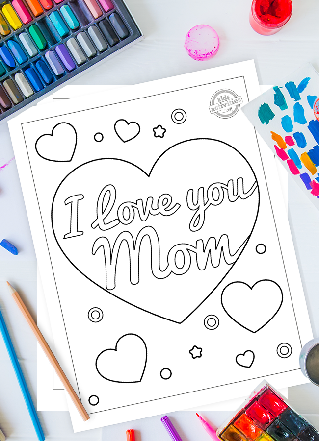 Oh So Sweet! I Love You Mom Coloring Pages for Kids