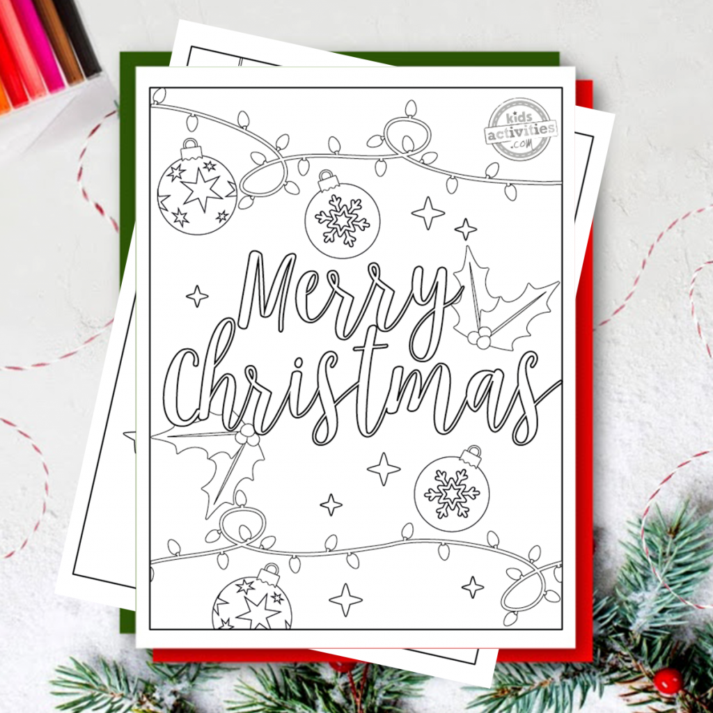 merry christmas coloring pages pdf