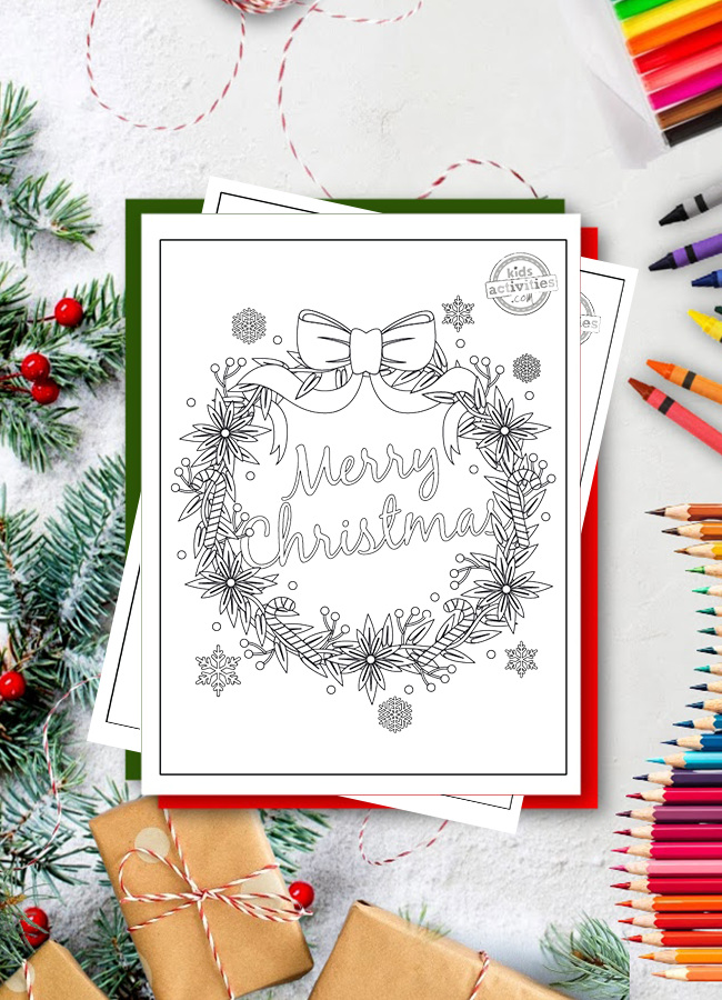 These Free Merry Christmas Coloring Pages Are Just Too Cute