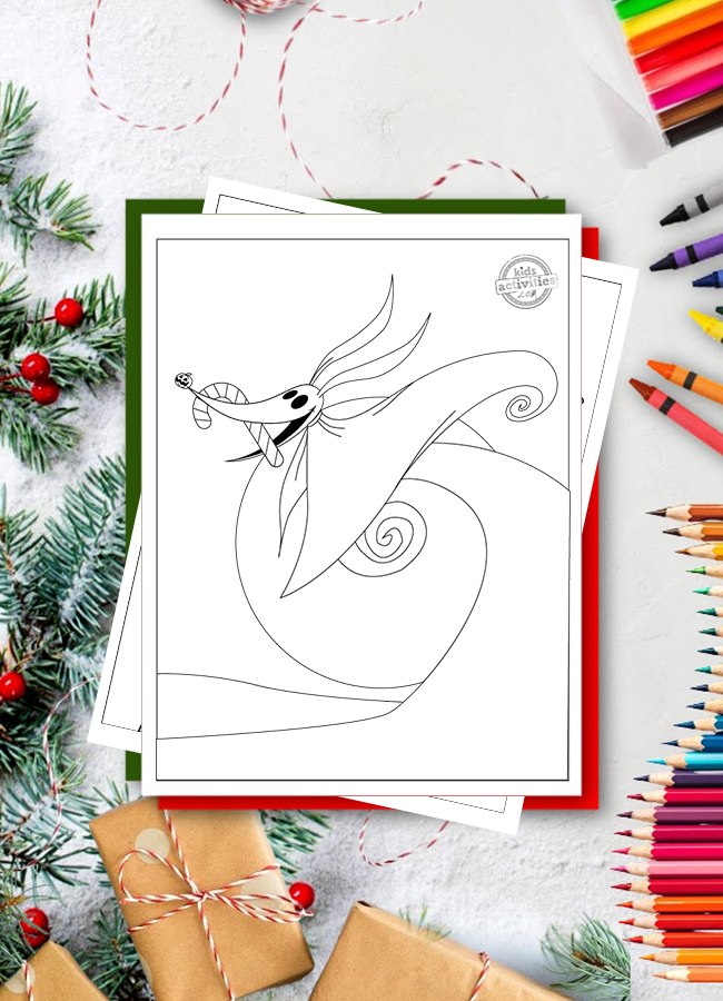 Coolest Nightmare Before Christmas Coloring Pages (Free Printable)