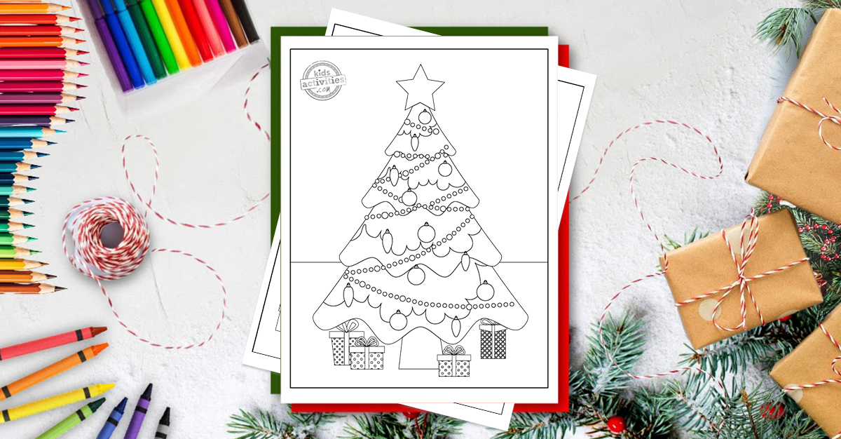 Download These Free Christmas Tree Coloring Pages Kids Activities Blog