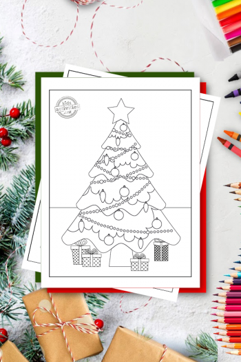 Printable Christmas Tree Coloring Pages