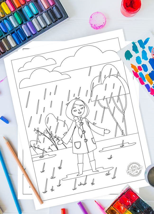 Cutest Free Printable Rainy Day Coloring Pages