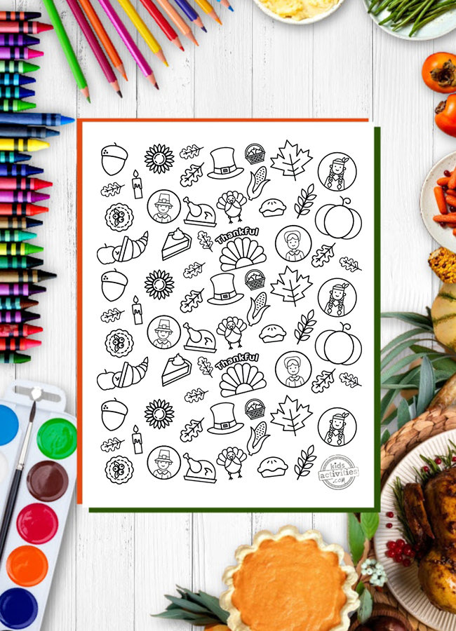 The Best Thanksgiving Doodles Coloring Pages (Free printable!)