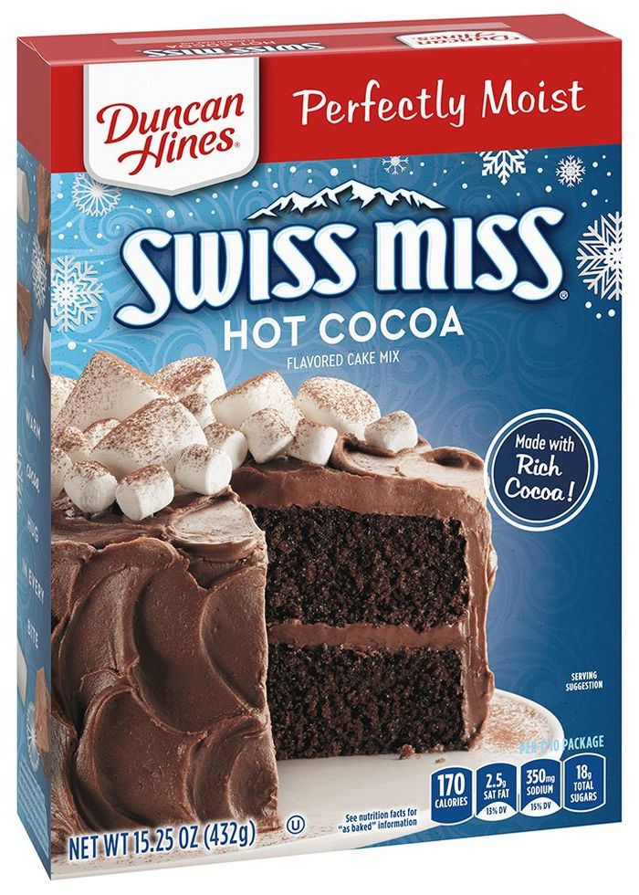 Duncan Hines and Swiss Miss Have a New Hot Cocoa Cake Mix and Frosting and We Are Here For It