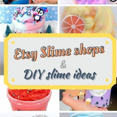 etsy slime shop suggestions and DIY slime ideas